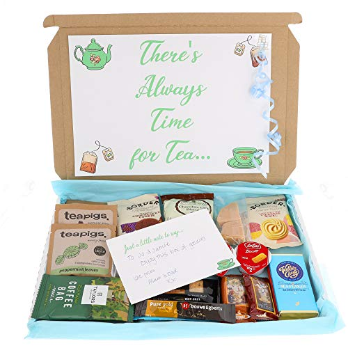 Luxury Tea For Two Sweet Hamper Box With Biscuits, Chocolate, Tea & Sweet Treats