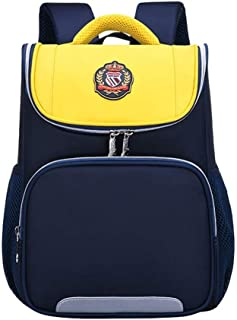 TONGSH School Backpacks Waterproof School Bags Durable Travel Camping Backpacks for Boys and Girls (Color : Yellow, Size : 34 * 25 * 13cm)