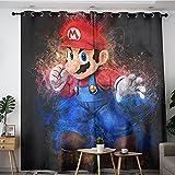 Cortina de tabiques caliente y fría Super Mario Comic Art Poster Toldo ajustable 137 x 160 cm