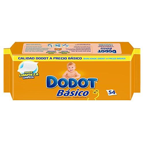 Dodot - Toallitas básico recambio 54 unidades - Pack de 6 (Total 324 unidades)