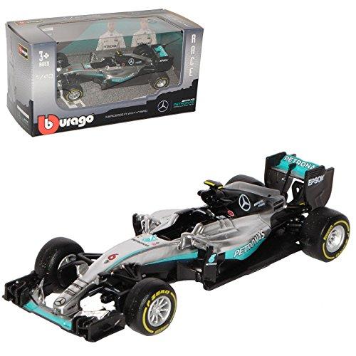Bburago Mercedes-Benz AMG F1 W07 Nico Rosberg Nr 6 Formel 1 2016 Weltmeister 1/43 Modell Auto