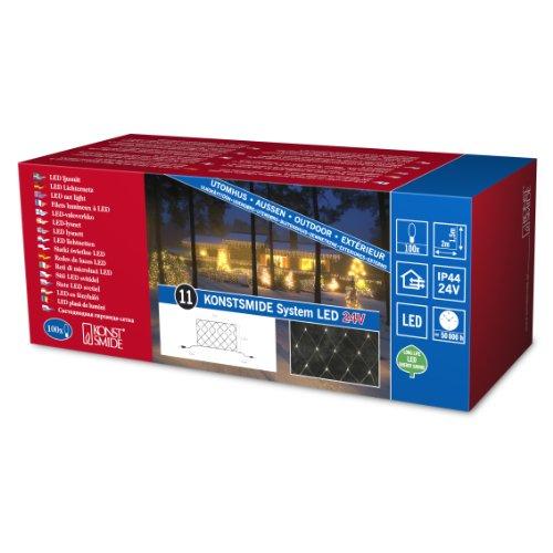 Konstsmide 4613-103 LED Hightech System Erweiterung / Lichternetz / für Außen (IP44) /  100 warm weiße Dioden / transparentes Kabel