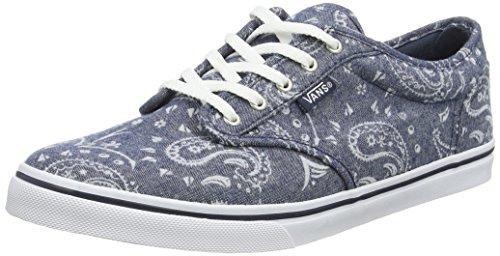 Vans Damen Atwood Low VZUOK3F Sneakers, Blau (Flocked Bandana Navy), 36.5 EU