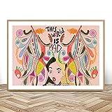 WSHIYI Alice im Wunderland Kunstdruck Leinwand Malerei
