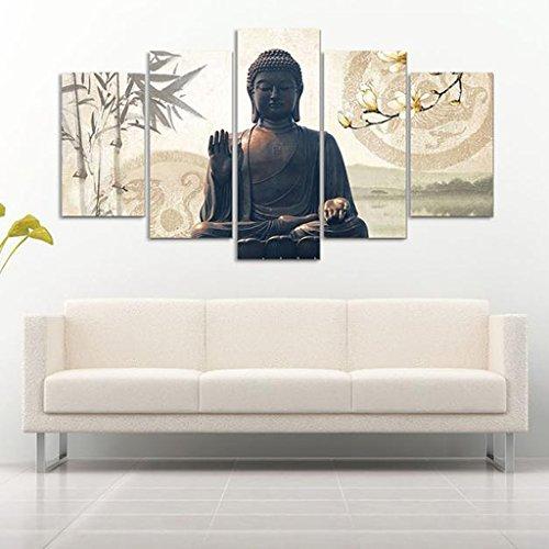 PETSOLA 5 Unids/Set Pintura Imprimir Moderno Arte Abstracto Decoración De Pared Lienzo Asiento Buda S