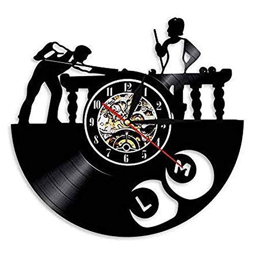 Reloj Colgante de Vinilo LED Reloj diseño Moderno Billar Piscina Sala de Estar decoración Reloj Colgante Deportivo Estilo 6