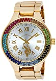 U. S. Polo Assn. Quartz Metal and Alloy Automatic Golden Analogue Display Women's Watch