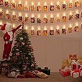LEDストリングライト写真 装飾ライト 写真クリップ DIY吊り下げる飾りライト20LED 2Mイルミネーションライト電池式 絵クリップ クリスマス バレンタインデー 誕生日 新年 パーティー 飾り ライト 結婚式 (20LED 2M)
