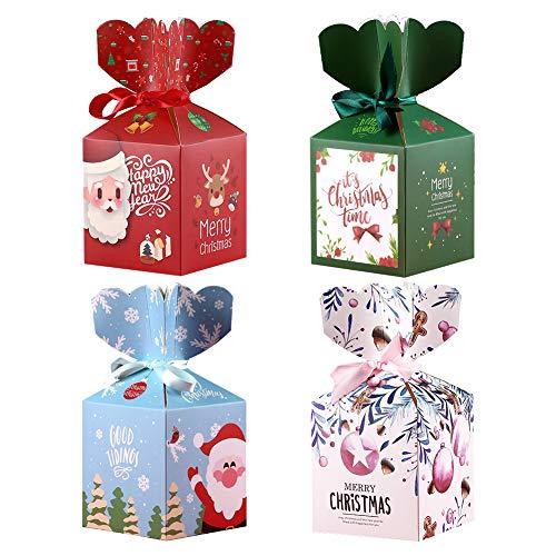 Boîte de Noël 24 boîtes Boites Cadeau De Papier De Noël Boîte De Cadeau D'élément De Noël Pour La Fête De Noël Sac De Noce Sacs