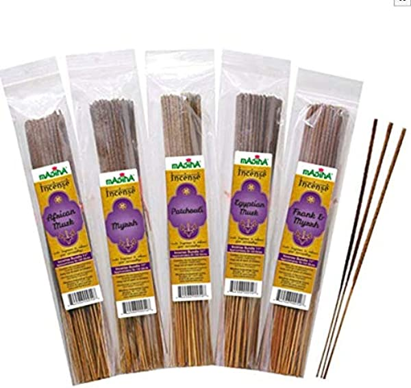 Egyptian Musk Exotic Madina Incense Sticks 100 Pack Bundle