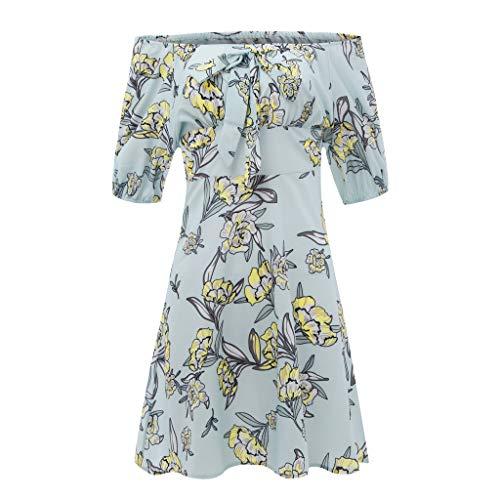 Reooly Soplo del cordón, impresión de la Moda Arco Lindo de Las Mujeres Atractivas Elegante Mini Vestido