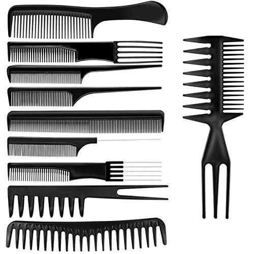 Pettini per capelli, Netspower 10 pezzi Parrucchiere professionale Pettine per capelli Pettine pettine Accessori per parrucchieri Gadget Set Strumenti per parrucchieri con borsa portatile