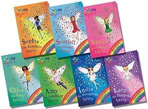 Rainbow Magic Jewel Fairies Collection - 7 Books RRP £34.93 (22: India the Moonstone Fairy; 23: Scarlett the Garnet Fairy; 24: Emily the Emerald Fairy; 25: Chloe the Topaz Fairy; 26: Amy the Amethyst Fairy; 27: Sophie the Sapphire Fairy; 28: Lucy the D