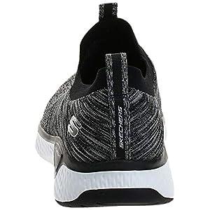 Skechers Men's Solar Fuse Loafer, Black/White, 9 M US