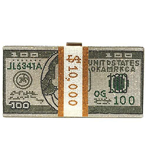 VALICLUD Abendtasche für Damen Tasche aus Kristall für Geldbeutel für die Kupplung Dollarotasche Tasche aus Acryl Hartschale, Grau - grau - Größe: 20,5x10,5x5,7 cm