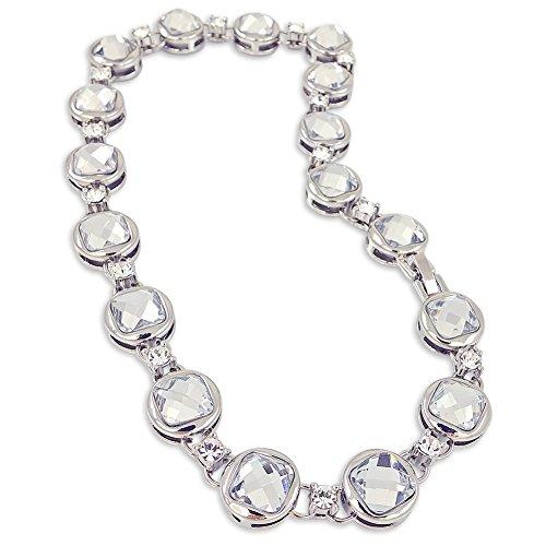 nobel-schmuck Damen-Kette Kristall Silber Halskette Collier