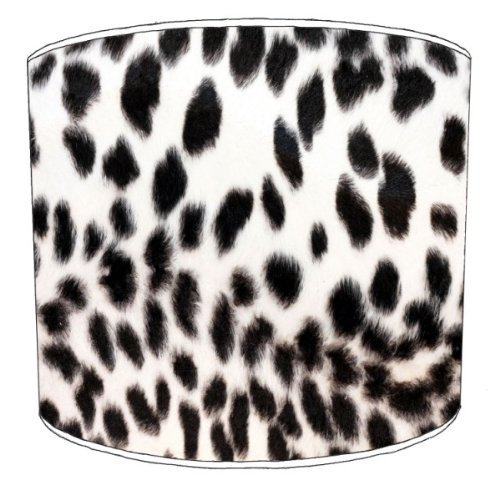 Premier Lampshades - 8 Inch Table Black and White Cheetah Animal Print Lamp Shades