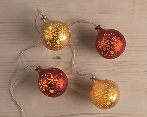 festive Productions a pile Snowflake balls - Red and Gold