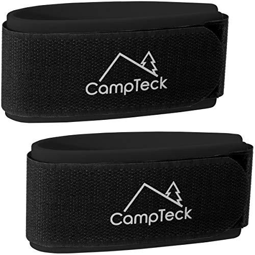 CampTeck U6890 - Correas de Esquí, Ski Straps - 1 par (2 Correas) - Correa Esqui para facilitar Transporte, Viaje y Almacenamiento - Negro