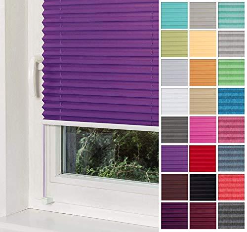 Plissee Violett HOME-VISION