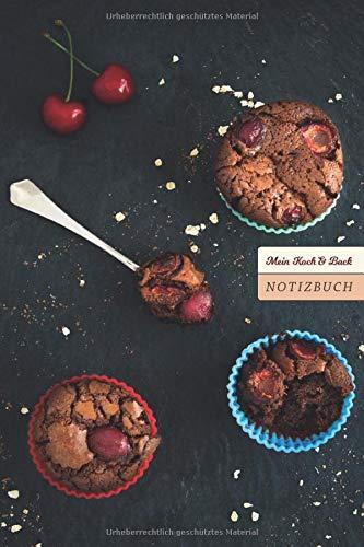 Mein Koch & Back Notizbuch: Für Rezepte, Einkaufslisten und spontane Kochideen, Notizbuch kariert, 100 Seiten