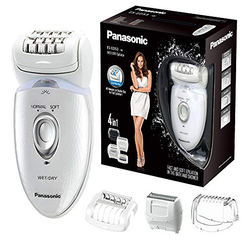 Panasonic ES-ED53 Wet & Dry Cordless Epilator for Women with 4 attachments