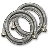 CompatibleBrands Washing Machine Hoses Burst Proof 6 Ft Stainless...
