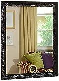 GaviaStore - Julie Noir 90x70 cm - Miroir Mural Moderne (18 Tailles et Couleurs) Grand XXL mirroir muraux Art déco Salon Mur Chambre Salle Bain entrée Maison