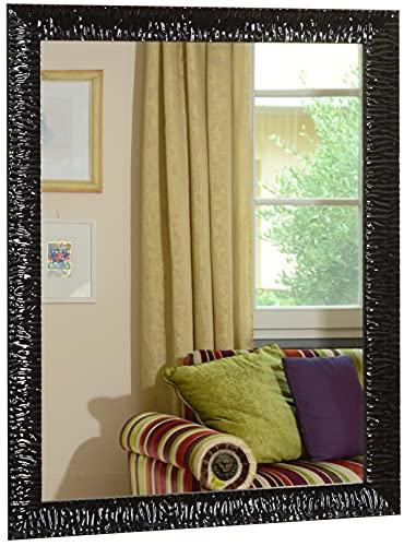 GaviaStore - Julie Negro 90x70 cm - Espejo de Pared Moderno (18 tamaños y Colores) Grande XXL hogar decoración Salon Modern...