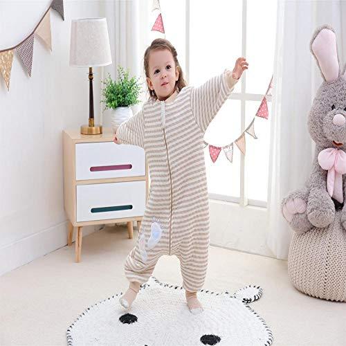 QFYD FDEYL Saco de Dormir para niños,Saco de Dormir para bebé-Little Foot-Brown_90,Invierno Sacos de Dormir para Bebé Niños Niñas