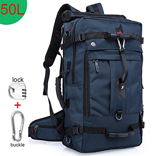 QOHNK 50L Waterproof Travel Backpack Men Women Multifunction 17.3 Laptop Backpacks Male outdoor Luggage Bag mochilas Best quality
