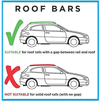 Solid Years 07-14 5 Door The Urban Company Roof Bars to Fit Vauxhall Zafira B With Integrated Rails
