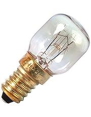 Calex - Oven lamp 300°C T25 - Oven lampje - Helder glas - Ø25mm - E14 Fitting - 25W 2200K 125lm - Energielabel E