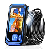 Industrial Endoscope, SKYBASIC 1080P HD Digital Borescope Inspection Camera Waterproof 4.3'LCD Screen Snake Camera with 32GB TF Card, 6 Adjustable LED Lights, Semi-Rigid Cable, Four Accessories-16.5FT