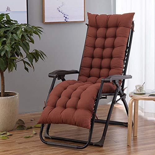 Cojines de jardín para tumbonas de jardín para patio al aire libre, interior clásico, cojín de repuesto cómodo, duradero, portátil, cojín para silla de columpio, café, 53 x 155 cm