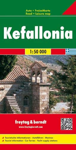 F&B Kefalonia: Toeristische wegenkaart 1:50 000