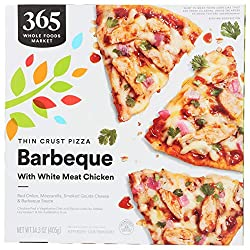 365 by Whole Foods Market, Frozen Thin Crust Pizza, Barbeque With White Meat Chicken, 14.3 Ounce
