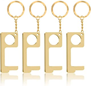 FIPORT No Touch Door Opener Tool, EDC Contactless Door Opener Hands Tool for Button, Door Handles, Elevator, Zero Touch Keep Hands Clean in Public (4PCS)
