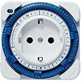 Theben 0260030 theben-timer 26 - temporizador analógico para interiores - temporizador de salida de corriente - enchufe del programa de tiempo - interruptor horario - blanco