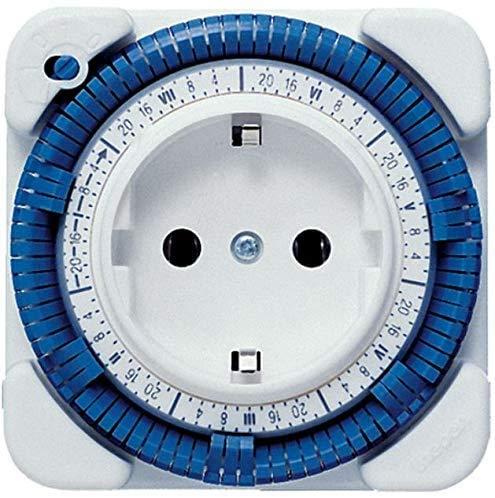 Theben 0260030 Timer 26 - analoge Zeitschaltuhr, Steckdosen Schaltuhr, Zeitprogrammstecker, weiß, bis zu 400 W LED Schaltleistung