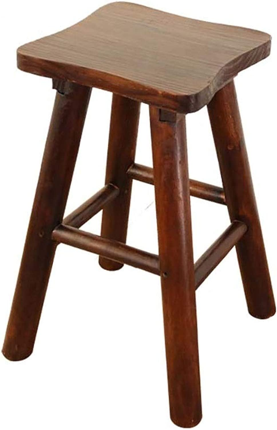 YUBINBar Chair,Bar Stool,Breakfast Bar Solid Wood Bar Stool, High Stool, Breakfast Stool (color   B, Size   55CM)