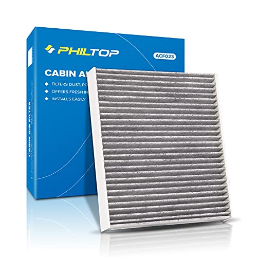 PHILTOP Cabin Air Filter, Replacement for CF12157, Camry, RAV4, Corolla, RX350, Prius, C-HR, ES350, Avalon, CX-9, ES300h, RX450h, etc, Premium Cabin Filter with Activated Carbon Filter, Pack of 1