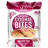 MPB Cookie Bites, Birthday Cake, Gluten Free, Low Sugar, (Pack of 10) 20 Count