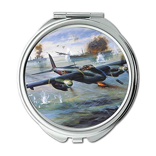 Yanteng Weltkrieg Flugzeuge, Spiegel, Compact Mirror, Kämpfer Fisch, Taschenspiegel, Tragbare Spiegel
