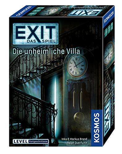 Kosmos FKS6940360 694036 - EXIT - Das Spiel, Die unheimliche Villa, Level: Fortgeschrittene, Escape Room Spiel, für 1 bis 4 Spieler ab 12 Jahren, einmaliges Event-Spiel für Erwachsene und Kinder