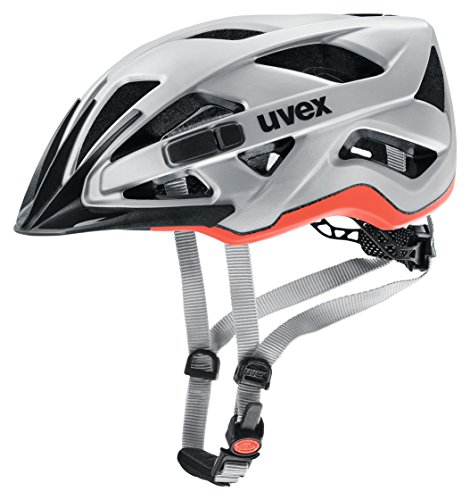 uvex Unisex– Erwachsene, active cc Fahrradhelm, silver orange mat, 56-60 cm thumbnail