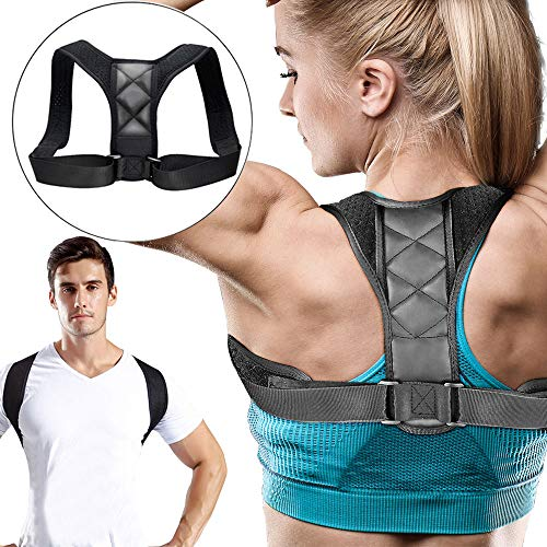 Posture Corrector for Men Women Upper Back Brace Effective Comfortable Adjustable Back Straightener Posture Trainer Clavicle Support Device Prevent Slouching for Upper Back Shoulder Neck Pain Relief