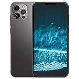 Teléfono móvil, 5G Desbloqueado Smartphone con pantalla de 6,7 pulgadas U Notch Muestra 12GB RAM + 512GB ROM, Tarjeta dual Dual Standby, 5000mAh Batería de iones de litio 24MP + Cámara de 48MP,Negro