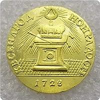 コインコレクション記念コインクラフトロシア1728ロシアゴールドバッジコイン1771父/友人のコイン愛好家へのギフト