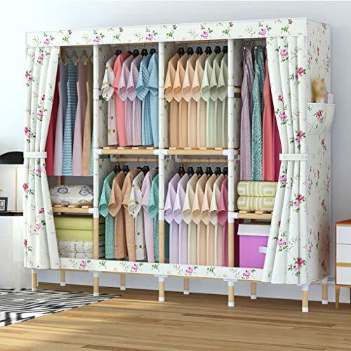 LIUXRONG Tyg garderob - bärbar garderob klädgarderob förvaring - djärv massiv träram - Oxfordtyg garderob - stor kapacitet - dubbel garderob 170cm*45cm*170cm a